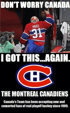 Go Habs Go! they were a little rusty and worried without their top goalie but now....WATCH EVERYBODY, THE MONTREAL CANADIANS ARE BACK!