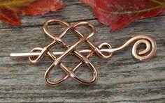 Celtic Knot Shawl Pin or Barrette in Warm by AutumnHollowFarm, $24.99