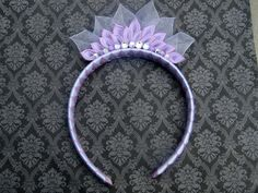 Check out this item in my Etsy shop https://www.etsy.com/listing/476663941/lavender-tiara-kanzashi-headband