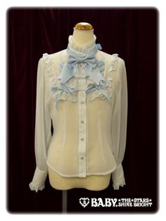 Airlaine Chiffon Blouse by Baby, the Stars Shine Bright Quirky Fashion, Kawaii Fashion, Lolita Fashion, Lolita Dress, Gothic Lolita, Chiffon Tops, Ruffle Blouse, My Style, Brown Tops