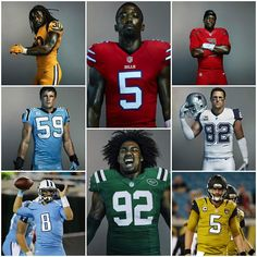 The Color Rush jerseys this season were awesome.  (2015 season)