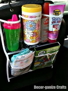 dollar store shoe organizer for car…my OCD is making me want to run out and get this right now