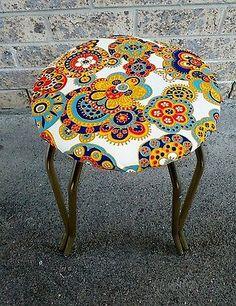 funky retro vintage stool