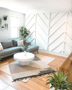 Feature Wall Living Room, Accent Walls In Living Room, Dining Room Walls, Living Room Decor, Bedroom Decor, Herringbone Wall, Accent Wall Designs, Living Room Designs, Interior Design