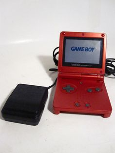 nintendo game boy advanced sp flame red video game  launch edition  | eBay