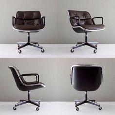 Le président exécutif Charlie Pollock, une icône du design moderne Mid-Century