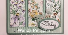 Happy Birthday Wanda, Different Flowers Images, Card Making Techniques, Flower Images, Diy Projects To Try, Creative Cards, Pansies, Contour, Stampin Up