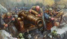 m Dwarf Royal Army mountains snow Cannon & crew Warhammer fantasy Fantasy Dwarf, Fantasy Battle, Fantasy Races, Fantasy Rpg, Medieval Fantasy, Fantasy Artwork, Fantasy World, Warhammer Fantasy, Fantasy Character Design