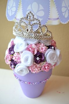 sofia the first centerpieces   Sofia the first centerpiece   Presley Birthday Party Ideas: