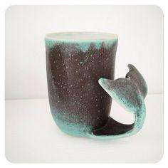 Whale Tail Mug - Curling Whale Tail Coffee Mug