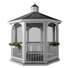 love gazebos.  I am sixteen going on seventeen, la la la...( I built a similar one with craft sticks! - the door..all the roof ..! Cute anyway! - BCR).