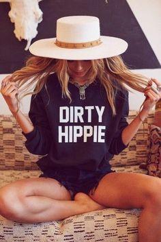 Dirty Hippie Sweatshirt #hipsteroutfits