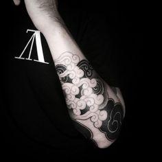 Korean cloud tattoo
