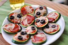 Mini Zucchini Pizzas. Eat-Yourself-Skinny @Beth Cocker