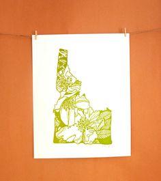 Letterpress Idaho Syringa - Mock Orange