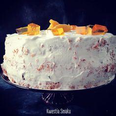 Krem budyniowy - Tort Pomarańczowy