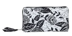 Rose Pop Zip to It Wallet - Popular accordion style wallet, zip pocket dividing the center perfect for coins, ID window, cash pocket, 10 credit card slots, zip around closure.