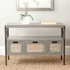 Safavieh American Home Joshua Console, Brown