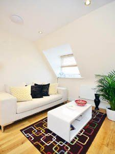 This 1 bedroom apartment in Bethnal Green, in the East End of London, features a stylish and modern decoration. Make sure to check its views on the City out!