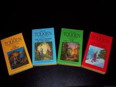 J. R. R. Tolkien's The Hobbit and The Lord of the Rings trilogy are almost perfect books.  Peter Jackson did an exquisite work with the movies, but Tolkien's novels contain riches that could never be captured on film.  I think I have three Tolkien sets, one of which I've had since high school.