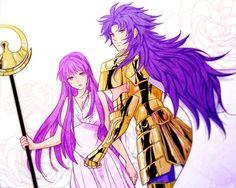 Saint Seiya | Saga e Saori/Athena