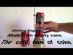 Soda can Stirling Engine - Homemade - YouTube