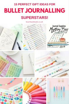 Struggling to figure out what gifts to buy fans of Bullet Journaling? This post has 15 awesome ideas for Bullet Journal fans everywhere. Whether it's for organizing stationery & bullet journalling supplies, washi tape or time-saving lettering stencils, there's bound to be something in this post that would make the perfect gift! Establish yourself as a bujo superstar & save time using these stationery supplies #stationery #bulletjournal #giftguide #Etsy #hhmuk #holidaygifts
