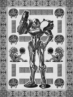 Black and White Samus by Barett Biggers