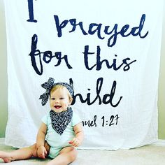 Grumbling Grace: I Prayed For this Child - with Modern Burlap