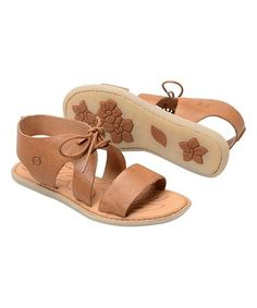 Look what I found on #zulily! Brown Kimbe Leather Sandal #zulilyfinds
