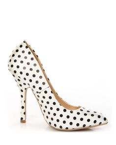 #retro pink #polkadot heels! Get 15% off www.yellowplum enter code STUDENT15 at checkout #yellowplum