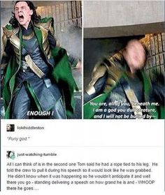 He didn't know when it was coming...This is how awesome Tom Hiddleston is everyone!