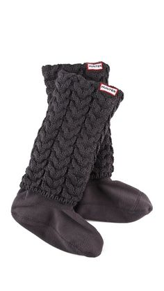 Hunter cable knit long welly socks