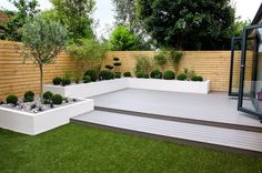 Garden Design Minimalist Garden photos: Small, low maintenance garden I homify - Here you will find photos of interior design ideas. Get inspired! Back Garden Design, Modern Garden Design, Patio Design, Backyard Designs, Backyard Ideas, Garden Decking Ideas, Fence Design, Garden Lighting Modern, Backyard Projects