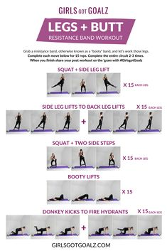 Effective butt workouts to try right here, pin booty workout ref 4594638538 Leg Workout With Bands, Leg Workout At Home, Workout Girls, Leg Butt Workout, Workout Plans, Resistance Workout, Resistance Band Exercises, Mini Band Exercises, Toning Exercises