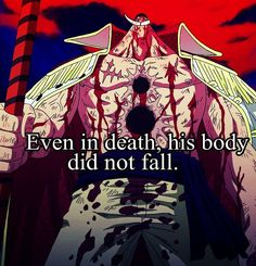 One piece - Edward Newgate (Whitebeard) Sad Anime, Anime Love, Manga Anime, One Piece Merchandise, One Piece Online, The Pirate King, Get Shot, Nico Robin, One Piece Manga