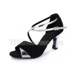 http://www.ttdancewear.com/latin-salsa-shoes/Free-Shipping-Wholesale-Black-Nubuck-Silver-Strap-Ballroom-Latin-Salsa-Dancing-Shoes