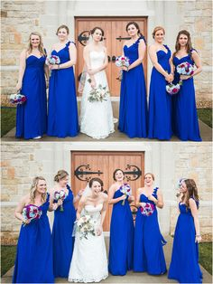 pink bridesmaid dresses- smithview pavilion- knoxville wedding ...