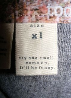 Interesting clothing tags