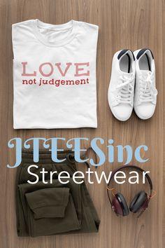 Unisex Jersey T shirt White Cotton T Shirts, Black And White T Shirts, Tee Design, Print Design, Statement Tees, Soft Light, Jersey Shorts, Hoodies, Sweatshirts