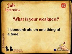 Great answer for What is Your Weakness Job Interview Question Job Interview Answers, Job Interview Preparation, Interview Skills, Job Interview Tips, Job Interviews, Interview Coaching, Interview Techniques, Interview Process, Interview Outfits