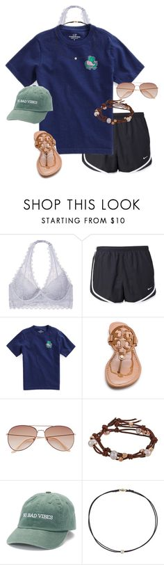 """""""St. Patrick's Day Spirit!"""" by auburnlady ❤ liked on Polyvore featuring Victoria's Secret, NIKE, Vineyard Vines, Tory Burch, H&M, Chan Luu and Dogeared"""