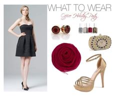 """""""Office Holiday Party Inspiration"""" by edressme ❤ liked on Polyvore featuring Aidan Mattox, Camille la Vie, Essie, Chan Luu, women's clothing, women's fashion, women, female, woman and misses"""