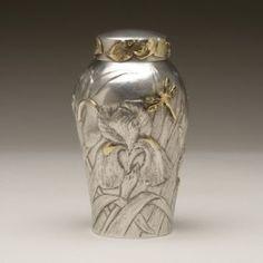 "Gallery 925 - Unique ""Iris"" Tea Caddy By Stella Campion, Handmade Sterling Silver"