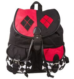 Channel the rebellious style of #HarleyQuinn with this fantastic statement canvas #backpack! xoxo #Bag