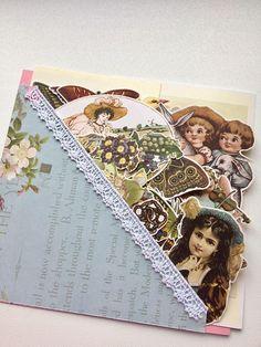 Vintage themed ephemera kit 3 junk journaling kit collage