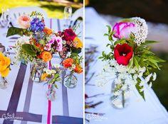 Wildflower color scheme, great for outdoor summer weddings