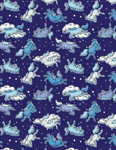 #Rainydays #badass #unicorn #vector #pattern #design for print by #MaraLiem - #illustration #sweet #cute #illustrationartists