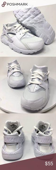 de34c177806 Nike Huarache Run (PS) White Sz 1Y 704949 110 Nike Huarache Run (PS