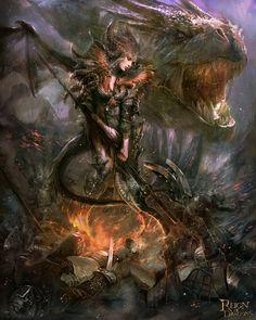"""gallantgambler: """"Dragon Queen version 02 by PabloFernandezArtwrk """""""